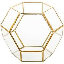 large gold geometric metal u0026 glass terrarium hobby lobby 1116771