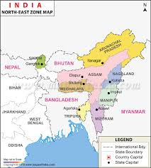 east political map east india map seven of india