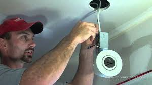 how to install a pot light and switch youtube