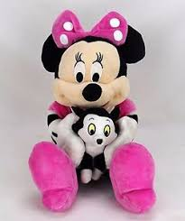 minnie mouse plush holding figaro cat pinocchio ebay