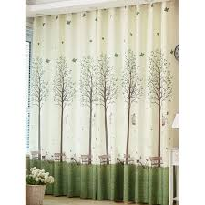 trees bench pattern blackout window curtain tree bench