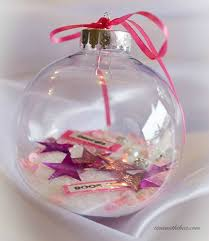 ornaments to personalize personalized clear glass christmas ornament gift time with thea