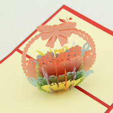 thank you basket aliexpress buy basket flower thank you card general card 3d