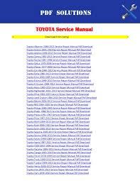 2011 toyota service schedule toyota workshop service repair manual pdf