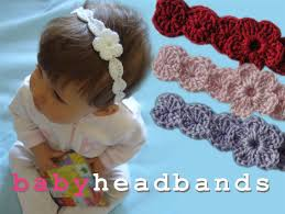 crochet headbands for babies baby crochet headband with flower felt