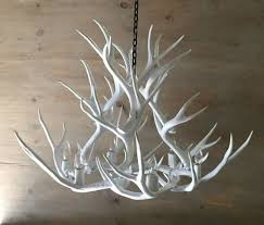 Antler Chandeliers For Sale Antler Chandelier Painted Solid White And Crafted Using