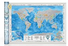 Arctic Ocean Map World Discovery Map With Scratch Off U2013 Große Detaillierte Rubbel
