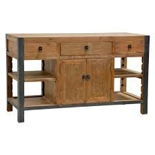 kitchen island reclaimed wood willow reclaimed wood and iron 60 inch kitchen island by kosas