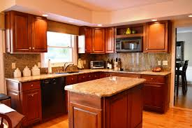 kitchen color ideas with cherry cabinets paper towel idolza