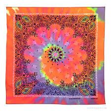 bandana hippie paisley tie dye bandana rainbow on sale for 4 99 at the hippie shop