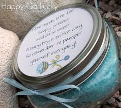 body scrub baby shower favor if you need a quick easy and inexpensive shower favor and or gift idea you have to make this body scrub we got all of our supplies at walmart and