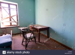Office Desk Bed Interior Of A Empty Deserted Room With Office Desk Chair And