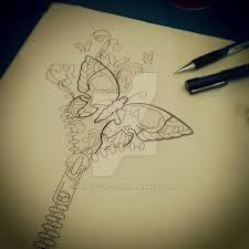 skull butterfly by malitia tattoo89 on deviantart