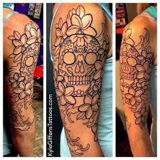 the 25 best sugar skull sleeve ideas on half sleeve