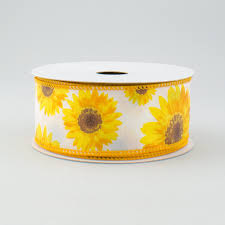 sunflower ribbon 1 5 sunflower ribbon yellow orange brown 10 yards rg01174n7