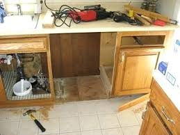 Elevated Dishwasher Cabinet Built In Dishwasher Cabinet Door Integrated Dishwasher Cabinet