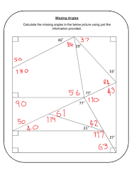 finding missing angles in triangles worksheet missing angles by prescotmaths teaching resources tes
