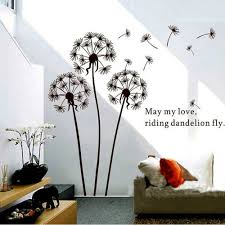 wall removable wall stickers dandelion wall decal lowes wall home decor decals walmart wall decor dandelion wall decal