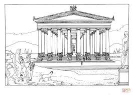 temple of artemis at ephesus coloring page free printable