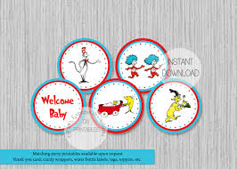 dr seuss baby shower cupcake toppers partyexpressinvitations