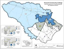 Baltimore City Council District Map Howard County Map Bin