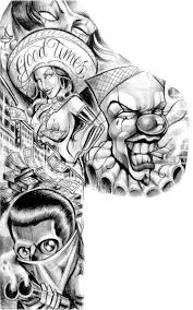 good times bad times chicano style sleeves tattoo design hm art