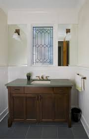 Vanity Powder Room Austin Beadboard Bathroom Vanity Powder Room Beach Style With Cozy