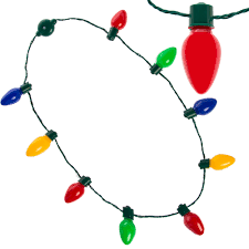 christmas light necklace lighted christmas necklace led bulbs kids adults party favors