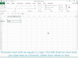 tutorial excel basic basic formulas excel 2013 tutorial