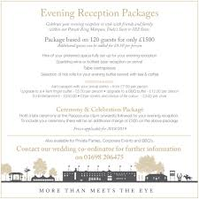 Wedding Packages Weddings Hamilton Park Racecourse