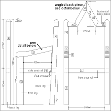 Bench Construction Plans Blueprints For Kings Chair King Chair Plan Drawings Set
