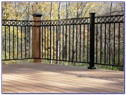 metal deck railing panels decks home decorating ideas mbw14rv2v8