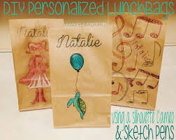 diy personalized lunch bags with the silhouette cameo u0026 sketch