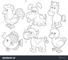 farm animals in spanish coloring pages illustration farm animals