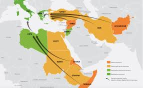 Migration Map Migrants Geographical Imaginations