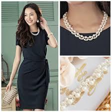 pearl necklace wedding dress images Partydress and komono freesia rakuten global market lovely jpg