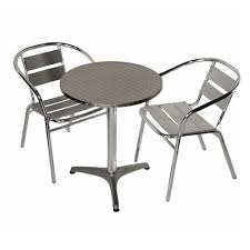 Aluminium Bistro Chairs Aluminium Bistro Set Outdoor Table And 2 Chairs Furniture For