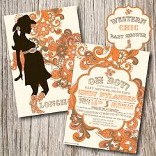 western baby shower western chic cowboy baby shower invitations and orange white