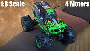 grave digger 30th anniversary monster truck 1 8 scale rc monster jam grave digger playtime in the house w