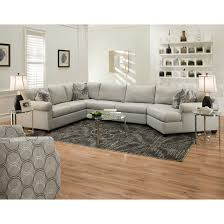 Long Ottoman Furniture Grey U Shaped Sectional Sofa With Long Ottoman And Area