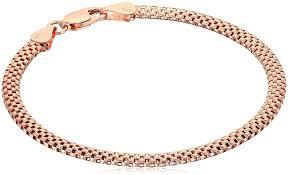 bracelet chain images Sterling silver mesh chain bracelet 7 quot link jpg