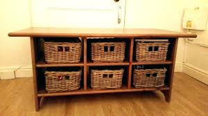 coffee table with baskets under coffee table with baskets coffee table with baskets underneath