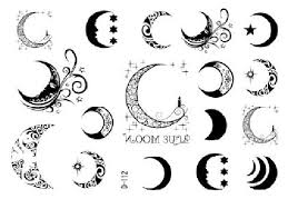outline and moon design