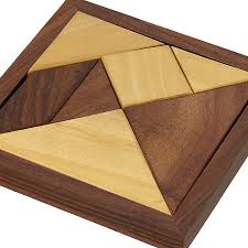 handmade wooden tangram puzzle for kids puzzle games for