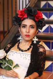 red black flower crown headband bridal headpiece music fest