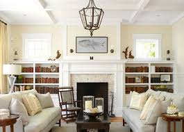 Fireplace Bookshelves by Built In Shelves Around Fireplace With Windows Google Search