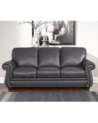 Grey Leather Sofa And Loveseat Amazing Deal On Abbyson Kassidy Grey Leather Sofa Kassidy