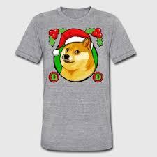Christmas Doge Meme - christmas doge meme doge t shirt spreadshirt