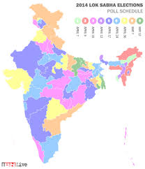 Gujarat India Map by 2014 Lok Sabha Elections Map And Interactive Schedule Of Poll