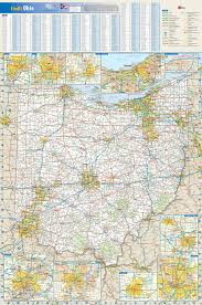 Map Akron Ohio by Ohio Wall Map Maps Com